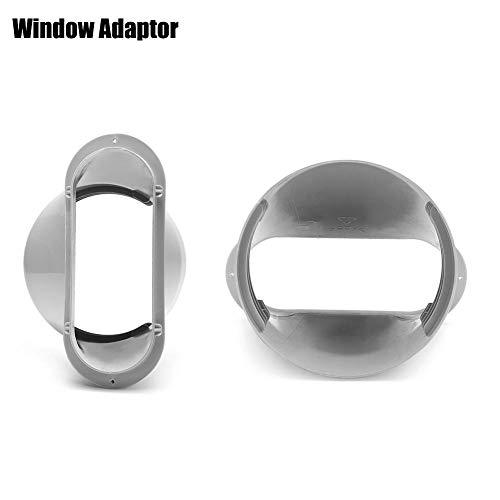 2PCS Fenster-Kit-Platte geeignet für alle tragbaren Klimageräte mit einem Luftauslass von 15 cm Durchmesser / 6 '' Fensteradapter für tragbare Klimaanlage - Maximal einstellbare Länge: ca. 130 cm -