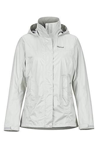 Marmot Damen PreCip Eco Jacket Hardshell Regenjacke, Platinum, XS
