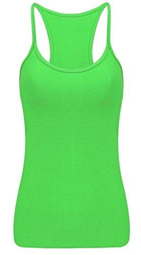 Fashion Oasis da Donna Gilet Liscio Senza Maniche Taglie 36-44 Verde neon