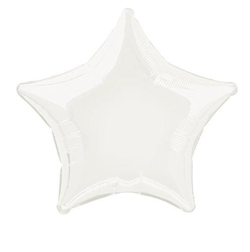 Ballon coeur en aluminium de 45 cm Blanc