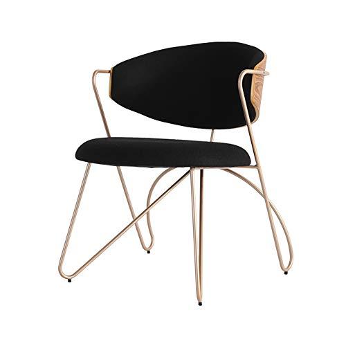 L.BAN Essensstuhl Kaschmir Wohnzimmer Stuhl Exzellentes Design Metallbeine