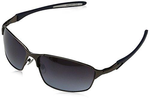 Sunglasses Unisex Adults' Max, Grey (Matt Gunmetal/Smoke Blue), 60