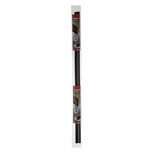 Türdichtung/Türdichtschiene mit Bürste, braun, 98 cm (für normale Böden)