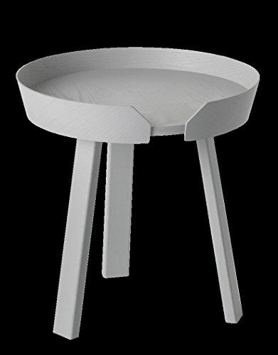 LJHA Table ronde en bois massif Petit plateau de rangement table basse Table de combinaison table basse 2 couleurs disponibles Taille en option table (Couleur : B, taille : 720 * 375MM)