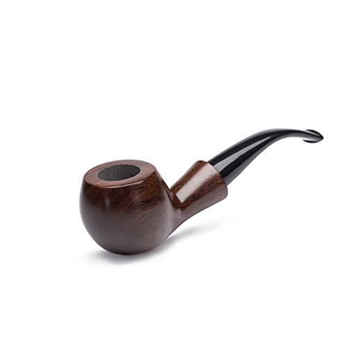 HongTeng Schwarze Sandelholzpfeife, tragbare Filterpfeife, rauchende Männer -