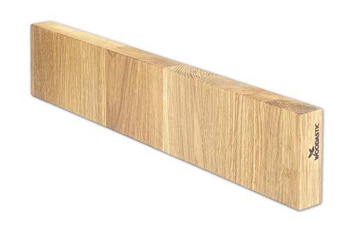 Woodastic magnetische Messerleiste aus massiver Eiche | 8.0 cm x 40.0 cm x 2.7 cm | Holz | Made in Germany | Messerhalter | sichere Messeraufbewahrung