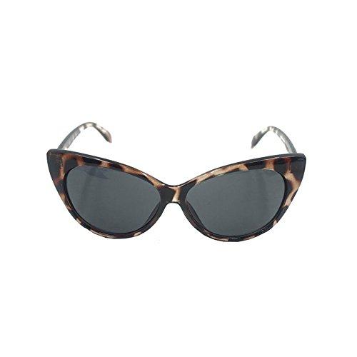 Beautyrain Frauen Dame Mode Cateye Lens Brillenreisespiegel Leopard Druck Schlank Chic Vogue Charming Bequem Schön