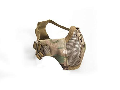 Unbekannt Airsoft Halb-Gittermaske, Farbe:Multi Camo -