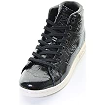 e8b352be1732 adidas Originals Baskets Montantes Stan Smith Noir Femme