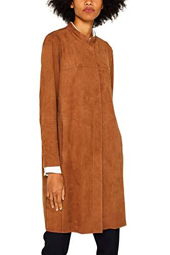 ESPRIT Damen 089Ee1G024 Mantel, Braun (Toffee 225), Medium (Herstellergröße: M)