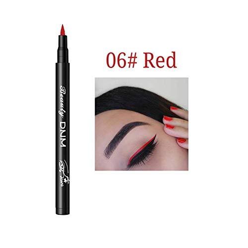 Wovemster Color Liquid Eyeliner Pen Durable Waterproof Anti-Allergic Long-Lasting Anti-Smudge Smooth...