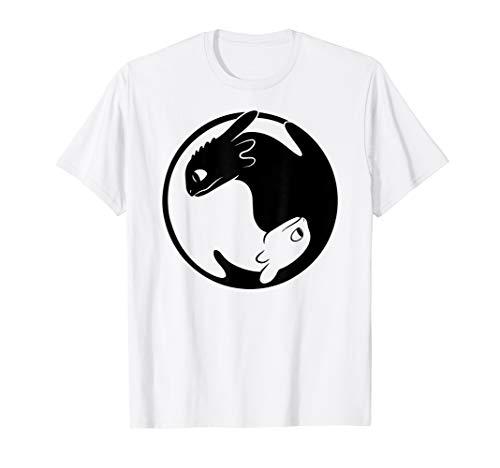 Drachenzähmen Leicht Gemacht 3  Drache Yin Yang T-Shirt - Drachen-grafik-t-shirts