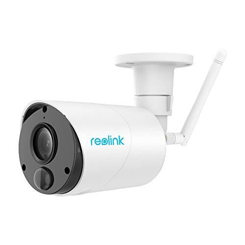 Reolink Argus Eco Caméra de Sécurité Extérieure sans Fil Batterie Rechargeable ou Alimenté à l'Énergie Solaire 1080P HD Audio Bidirectionnel Fente Intégrée (Antenne Externe)
