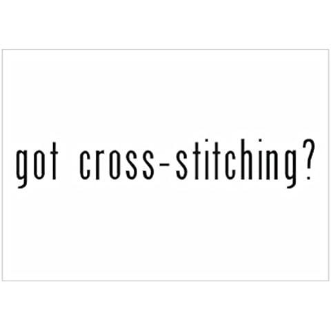 Teeburon Got Cross Stitching? Sticker Pacchetto di