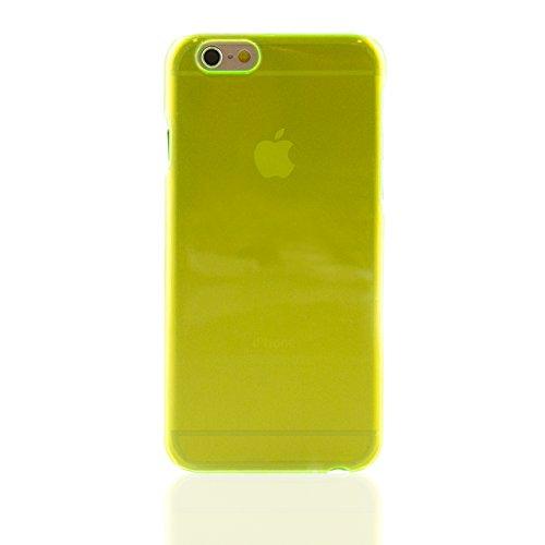 "iProtect Apple iPhone 6 (4,7"") Hülle Clear Crystal Hard Case Schutzhülle transparent orange Hardcase Transparent Grün"