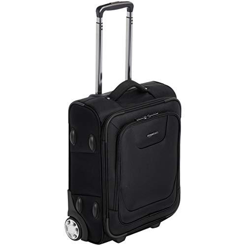AmazonBasics - Erweiterbarer Weichschalen-Koffer, Handgepäck-Größe, mit TSA-Schloss und Rollen, 48 cm, schwarz