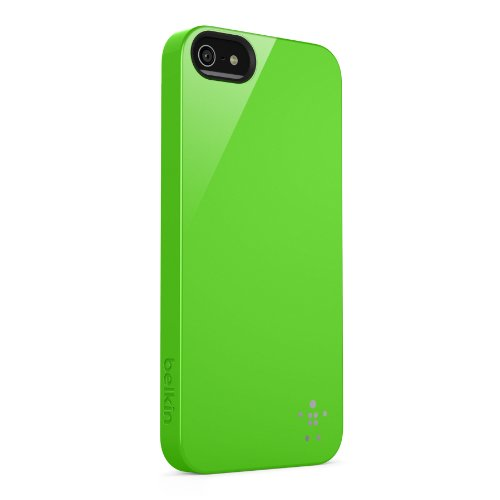 Belkin F8W159VFC04 Shield Case - Cover Custodia per iPhone 5/5S/SE, Rosso Verde Lime