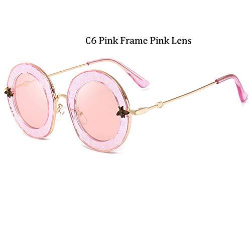 Kjwsbb Retro Runde Buchstaben Sonnenbrille Frauen Buchstaben Klare Rahmen Mode Männer Sonnenbrille Hot Unisex Eyewear