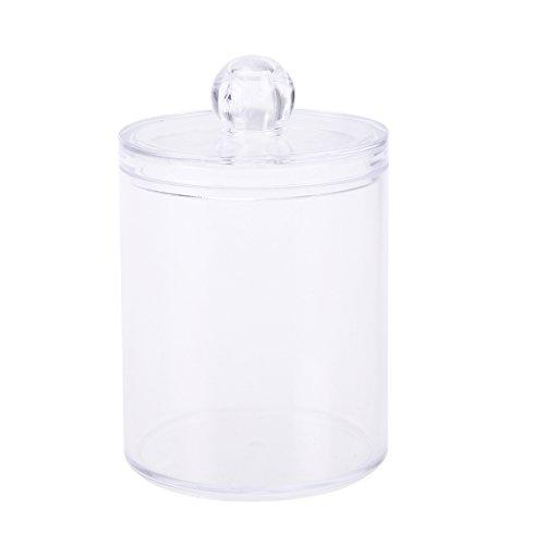 OUNONA Wattepads Wattestäbchen Organizer Aufbewahrung Box Behälter Kunststoff für Makeup Kosmetik Bad Vanity (Transparent) - Vanity Box