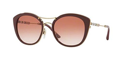 Burberry 0be4251q 340313, occhiali da sole donna, rosso (bordeaux/browngradient), 53