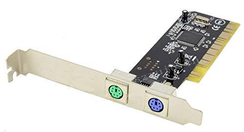 Pci Tastatur (FidgetGear PCI 32bit Dual PS2 PS/2 Karte PC Tastatur Maus PCI 2 Ports PS/2 ohne USB)