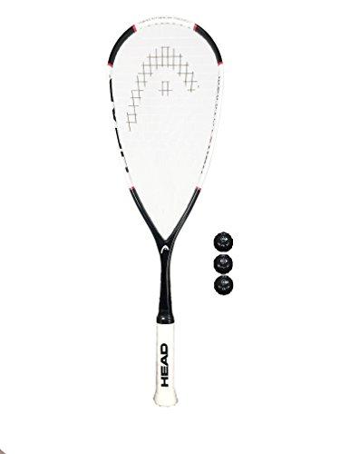 Head Nano Ti 115 Squash Schläger +3 Balle