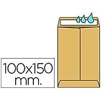 SOBRE LIDERPAPEL BOLSA N.1 KRAFT SALARIOS 100X150 MM ENGOMADO CAJA DE 500 UNIDADES