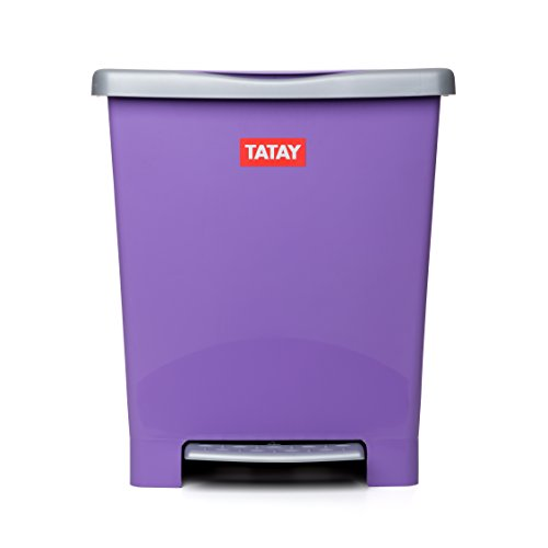 TATAY 1101413 - Millenium Cubo de Basura Cocina con Apertura a Pedal, 23 l de Capacidad, Plástico Polipropileno...