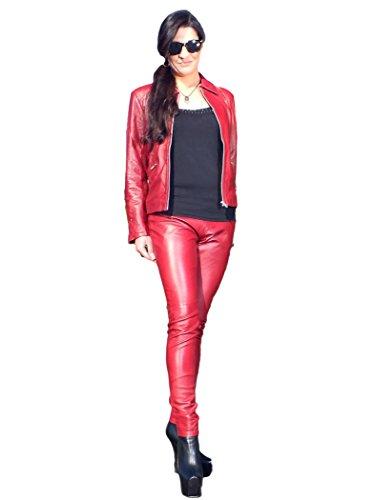 Lederhose Dunkel-Rot GrößeM
