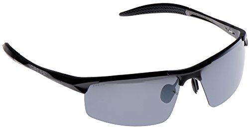 Cressi Cabrio Sonnenbrille, Glänzend Schwarz/Linsen Silber, Uni