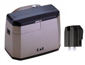 KAI elektrischer Messerschärfer (13,8 cm x 11,1 cm x 10,5 cm) inkl. Messerpoliereinheit (H.Nr. AP-118S)