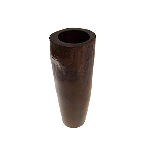 ROMBOL Vase, Holzvase, Höhe 41 cm, Designvase, Deko, Dekoration, Dekovase, Mangoholz