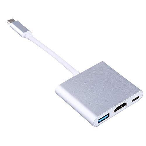 Zerone USB 3.1der U89Digital Multiport Adapter HDMI zu HDMI, USB-c Konverter Kabel Ladeanschluss + HDMI unterstützt 4K 30Hz + USB 3.1Port für HDMI Konverter und MacBook/Chromebook Pixel Digital Lifestyle-digital-tv