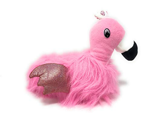 Flamingo Hausschuhe Pantoffel kuschelig weich Plüsch warm bequem süß rosa pink (36/37 EU)