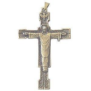 Rosenkranz Supplies-Metall Kreuzen und kruzifixen Christ Redeemer-The Hoherpriester Kruzifix-6,5cm oder 2,6 Bronze