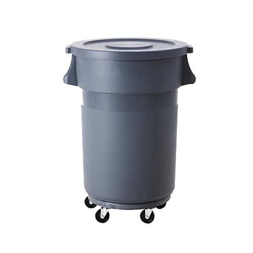 Bote de basura, Recipiente de plástico del cubo de basura, Bote de basura 80L, Contenedores de basura redondos del restaurante del hotel, Rueda universal en forma for interiores y exteriores en el hog