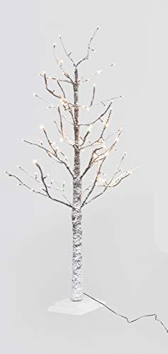 Xone albero di natale led 210 cm | albero luminoso innevato 306 led luce calda