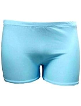 Pantalones cortos para niñas, elásticos, de 5 a 12 años, colores neón