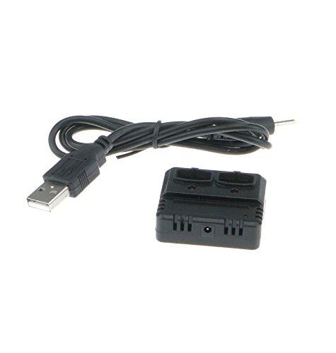 Efaso 5-fach USB-Ladebox für verschiedene RC-Akkus - Passend für Hubsan H107L, H107C, H107D, U816, U818A, MJX F47, Syma X5C, Scorpion S-Max, V959, V222, U818A, V990, 998-V2, L6039, M62, FY550, Walkera W100S, Quadcopter 392, Carrera 503003, Amewi Spy Shadow, Rayline 310B, Simulus GH-4.CAM, GH-4.LIVE, GH-4.Mini - 2