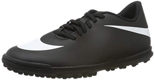 Nike Bravata II TF, Scarpe da Calcetto Indoor Uomo, Nero White/Black 001, 44 EU