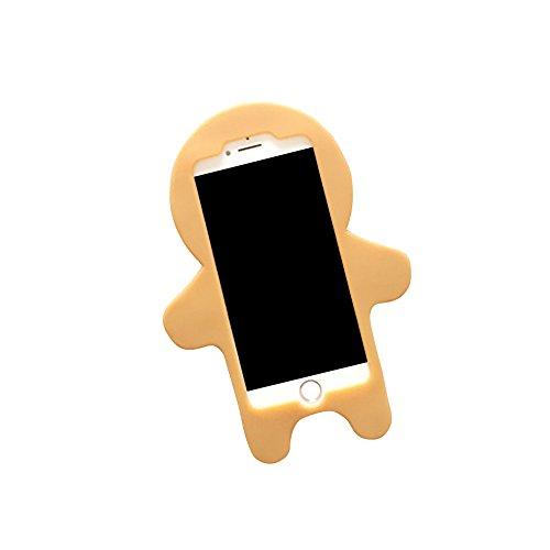 Kreatives Weihnachtsgeschenk iPhone 6 6S 3D Hülle Handyhülle, Silikon Cartoon-Case Cover Schutzhülle, Backcover Handy-Tasche Bumper 3D Spielzeug Etui für Apple iPhone XMAS Gift 6/6s (Santa Elk) Lebkuchenmann
