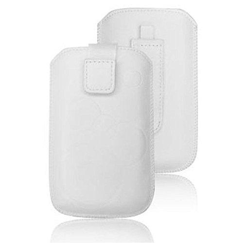 tag-24 Handy Tasche Deko Etui Schutzhülle passend für Emporia TALK COMFORT weiß