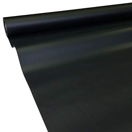 JUNOPAX 44526565 Papiertischdecke 50m x 1,30m schwarz nass- und wischfest (Schwarze Tischdecken Rollen Papier)