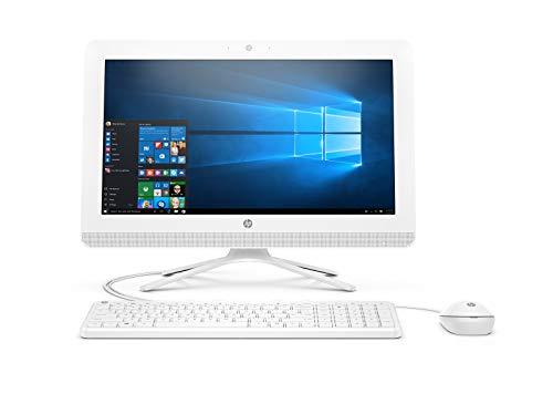 HP 20-c000ns - All in One - Ordenador de sobremesa 19.5' FullHD (AMD E2-7110 , 4GB RAM, 1TB HDD, AMD Radeon R2, Windows 10); Blanco -  Teclado QWERTY Español + Ratón USB