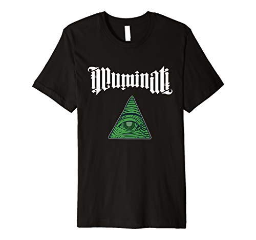 Illuminati Schriftzug | Allsehendes Auge | NWO T-Shirt - Nwo-t-shirt