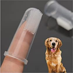 SLB Works 2PC Soft Finger Toothbrush Pet Dog Oral Dental Cleaning Teeth Care Hygiene Brush