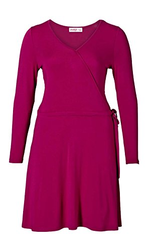 Sheego Damen-Kleid Wickelkleid Pink Größe 44