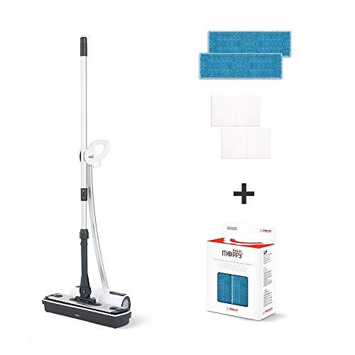 Polti Moppy - Limpiador a vapor sin cables para todo tipo de suelos y superficies verticales lavables