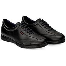 Oneflex Jules Negro - Zapatos Cómodos de Hombre - livianos y Antideslizantes