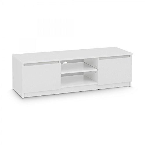 TV-Lowboard Board Schrank Fernsehtisch TV-Möbel (Weiß)